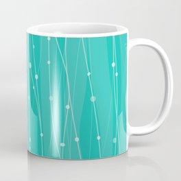Тurquoise Pattern With Lines And Dots Coffee Mug