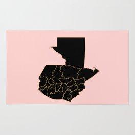Guatemala map Rug