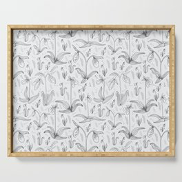Lady Slipper Pattern Design Serving Tray