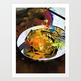 Fried Egg for Brekkie Art Print