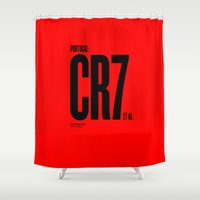 portugal Shower Curtains featuring Portugal by Skiller Moves
