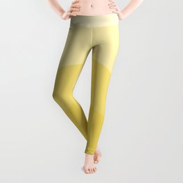 Four Shades of Yellow Curved Leggings