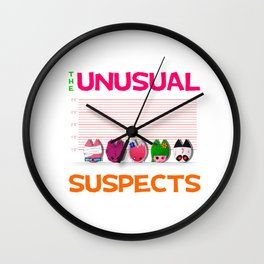 The Unusual Suspects Wall Clock