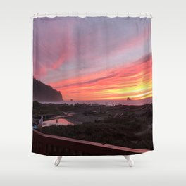 Gerry the Seagull at Sunset Shower Curtain