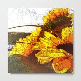 Contemporary Summer Sunflowers Metal Print