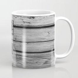 wood wall texture as background Coffee Mug
