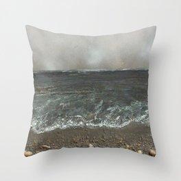 Storm's a comin' Throw Pillow