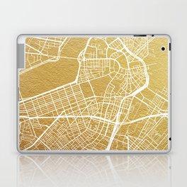 Gold Boston map Laptop & iPad Skin