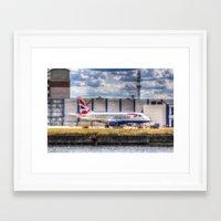 british Framed Art Prints featuring British Airways  by David Pyatt