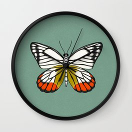 Painted Jezebel Butterfly Wall Clock