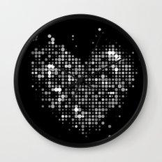 Heart2 Black Wall Clock