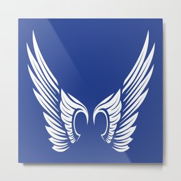 Blue Wings Metal Print