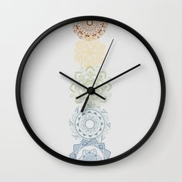 Chakra Mandala Wall Clock