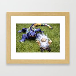 Gnorman Gnome and Friend Framed Art Print