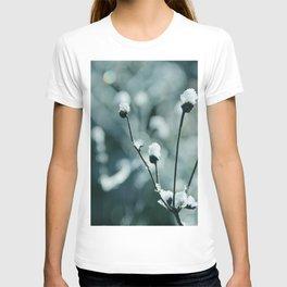 Blue frozen plants T-shirt