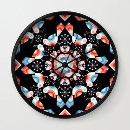 Lovebird Lattice Wall Clock