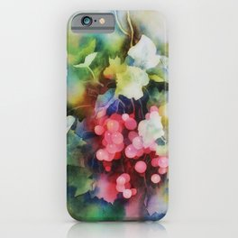 Berries Watercolor Artwork iPhone Case