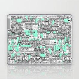 Paris toile aquamarine Laptop & iPad Skin