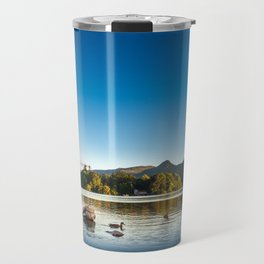 Ducks on Lake Derewentwater near Keswick, England Travel Mug
