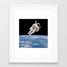 Astronaut Floating Free Framed Art Print