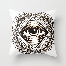 Clear Vision All Seeing Eye Throw Pillow
