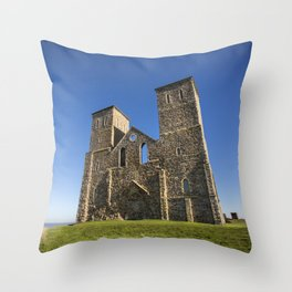 The Reculver, North kent. Throw Pillow