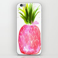 pineapples iPhone & iPod Skins featuring Pineapples  by Melanie Dorsey Designs