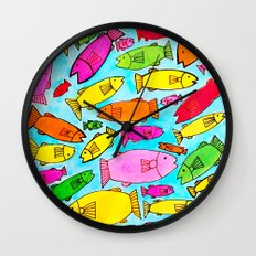 Fish Frenzy Wall Clock