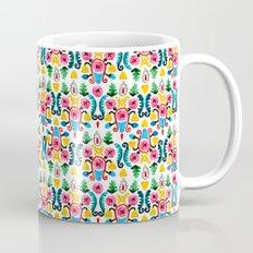 Colorful oriental watercolor floral pattern. Mug