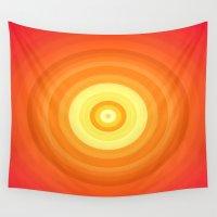 orange pattern Wall Tapestries featuring Orange by Susann Mielke