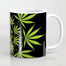 Cannabis Leaf Circle (Black) Coffee Mug