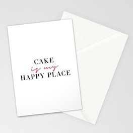 Cake is My Happy Place Stationery Cards