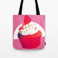 cupcake Tote Bags featuring Cupcake by Mr and Mrs Quirynen
