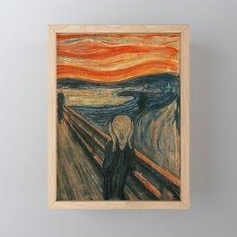THE SCREAM - EDVARD MUNCH Framed Mini Art Print