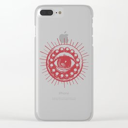 Red Eye of Agamotto Clear iPhone Case