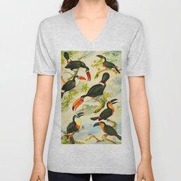 Album de aves amazonicas - Emil August Göldi - 1900 Tropical Colorful Amazon Birds Unisex V-Neck
