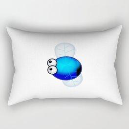 Blue Bottle Rectangular Pillow