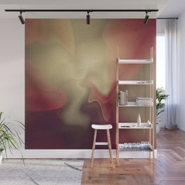 Burgandy Red Lava Lamp Abstract Wall Mural