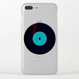 Vinyl Record Star Sign Art | Cancer Clear iPhone Case