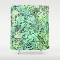 insects Shower Curtains featuring Insects by David Bushell