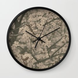 Pastel Flowers Wall Clock