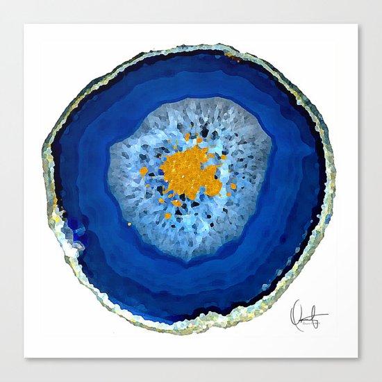 Agate Blue  Canvas Print