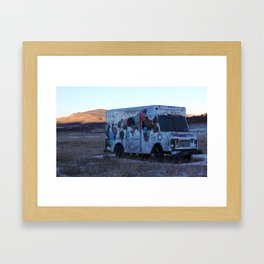 Colorado Landscape With a Abandon Food Truck Framed Art Print