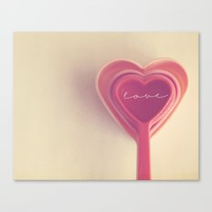 how do you measure love... Canvas Print
