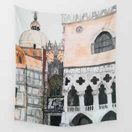 Venice architecture, Piazza San Marco, Dodge's Palace Wall Tapestry