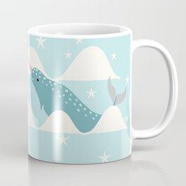 narwhal in ocean Coffee Mug