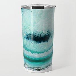 turquoise agate slice Travel Mug