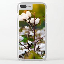 Cotton Field Clear iPhone Case