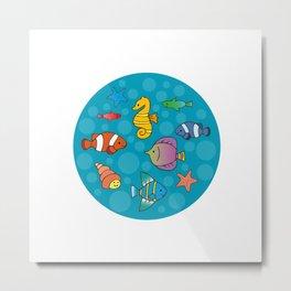 Tiny Aquarium Metal Print