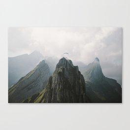 Flying Mountain Explorer - Landscape Photography Canvas Print